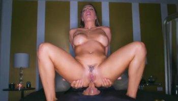 Sex doll blonde masturbates with vibrator in public